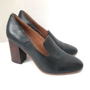 Latigo Kala Block Heel Loafer Leather Pump Heels